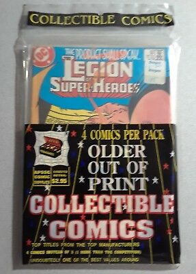 1 DC Legion of Super-heroes Out of Print Factory Sealed 4 Pack Rare NR