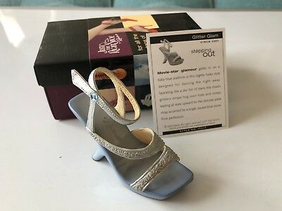 """Raine Just the Right Shoe 2002 """"Glitter Glam"""" Stepping Out Series #25315"""