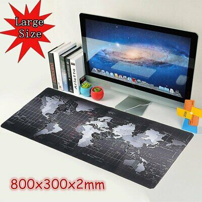 800x300mm Extended Gaming Mouse Mat Pad XXL Large World Map Mousepad Non Slip
