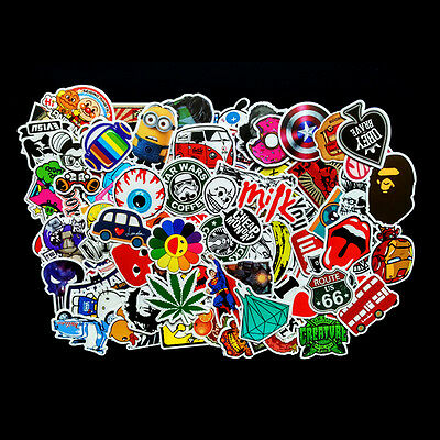 100x Stickers Bomb Graffiti Vinyl For Car Skate Skateboard Laptop Luggage Decal