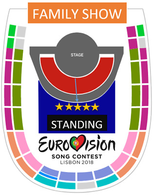 Eurovision 2018 Tickets Standing Grand Final Family Show 12 May. Entradas Pista