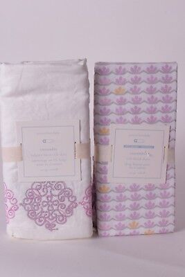 NWT Pottery Barn Kids Cassandra crib sheet & crib skirt nursery