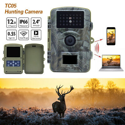 TC05 Trail Camera HD Game Hunting Cam with 20 m Infrared Night Vision lot