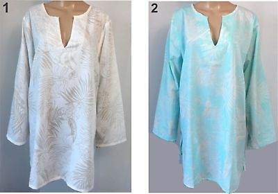 Ladies Dress Top Kaftan Style Long Sleeve V neck Multi Size 12 14 16 / 18 20  F5