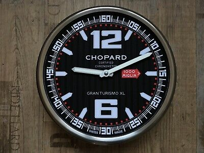 New Chopard Mille Miglia Grand Tourismo Showroom Promotion Dealer Wall Clock