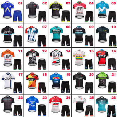 2018 New Mens Cycling Short Sleeve Bicycle 3 Pockets Jersey Shorts Sets Cool