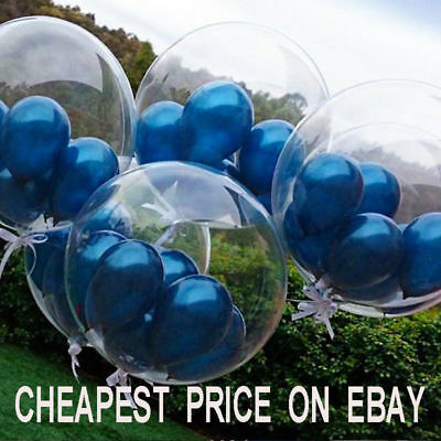 CLEAR Latex PLAIN BALOONS BALLONS helium BALLOONS Quality Party Birthday Wedding