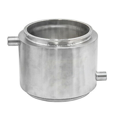 "HFS(R) 12"" X 12"" Stainless Sanitary Jacketed Spool Tri-Clamp Ferrule Flange"