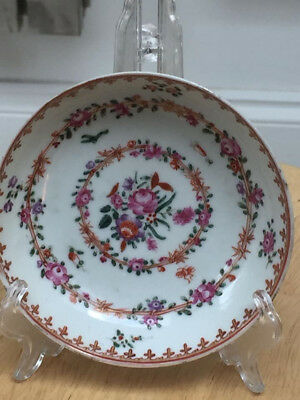 An Attractive Chinese Famille Rose Qianlong 18Th Century Porcelain Fluted Bowl