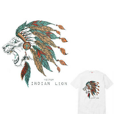 Indian Lion Clothes Patches Stickers Iron-on Heat Transfers DIY Appliqued PatchV