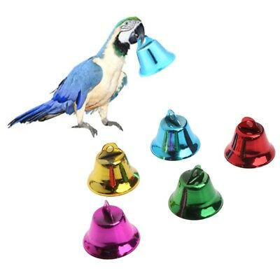 10 X Multi-Color Pet Bird Bells Wind Chimes For Parrot Toy DIY Stainless Steel