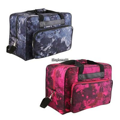 Universal Floral Sewing Machine Carrying Case - Carry Tote/Bag & Handle 2 Color
