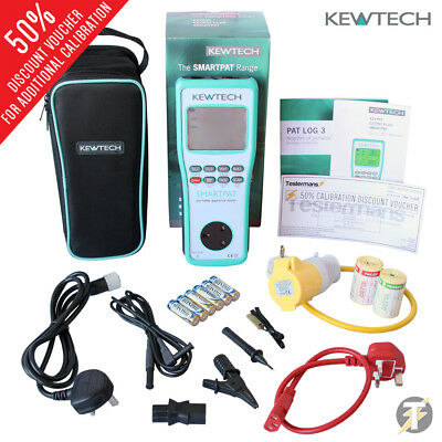 Kewtech SMARTPAT battery operated PAT Tester | Run Leakage Test and extras KIT6U