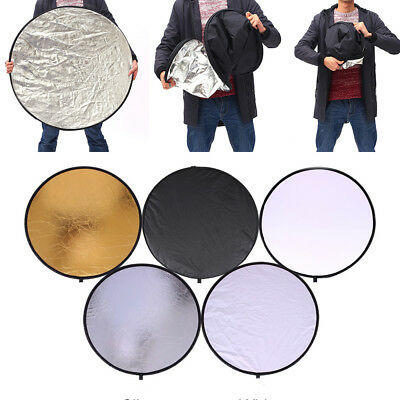 Portable 5 in 1 Photography Light Collapsible Photo Reflector Round Diffuser