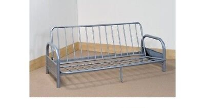Fantastic Mexico 2 Seater Futon Sofa Bed Frame Silver 99 99 Ncnpc Chair Design For Home Ncnpcorg