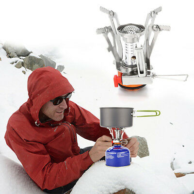3000W Portable Outdoor Picnic Gas Burner Foldable Camping Mini Steel Stove +Case