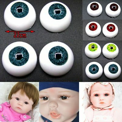 22mm Reborn Baby Doll Eyes Half Round Acrylic Eyeball for Newborn Dolls Supplies