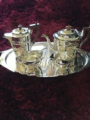 GeorgeV silver tea service and two handled tray Thomas Ducrow, Birmingham