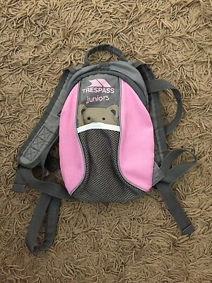 Trespass Walking Harness with Reins Mini Me Toddler Pink Baby Backpack