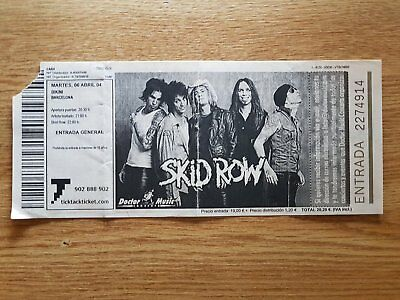 SKID ROW ticket Live in Barcelona 2004 ORIGINAL