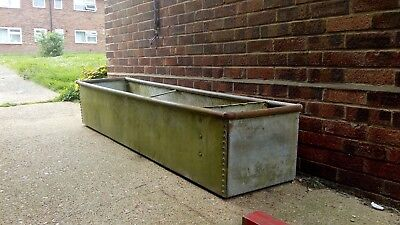 Large 7ft galvanized cattle water trough planter