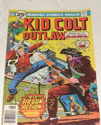 Marvel Comics KID COLT OUTLAW 209# 1976 THE MAN HUNTER AND ONLY AT 1.99 6.0