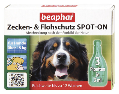 Beaphar Bio Spot On Flea and Tick Treatment Dogs Above 15kg 3 mths 3 pipettes
