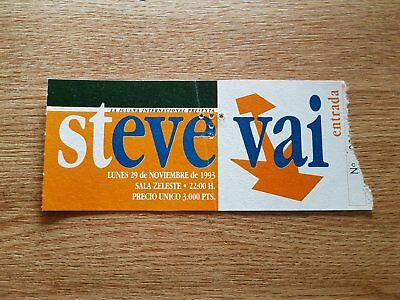 STEVE VAI ticket entrada Live in Barcelona 1993 ORIGINAL