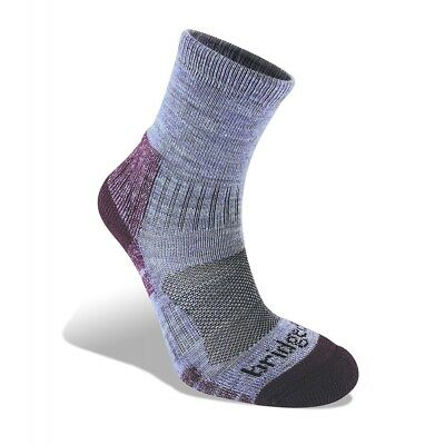 Bridgedale Woolfusion Trail Light Women's Sock Heather and Damson Large