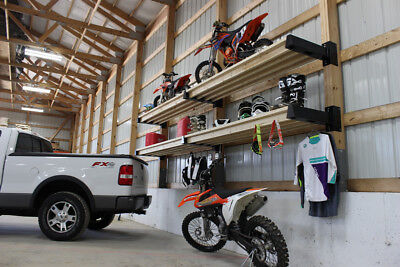 USA MADE Post Rack Bracket Industrial Shelving, Storage, and Work Space or Bench