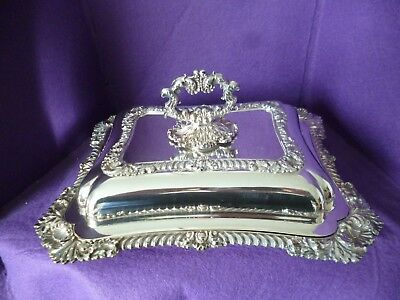 A Stunning Looking Antique Silver Plated Serving Tureen