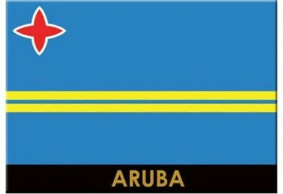 "Aruba Flag Caribbean Fridge Collector's Souvenir Magnet 2.5"" X 3.5"""