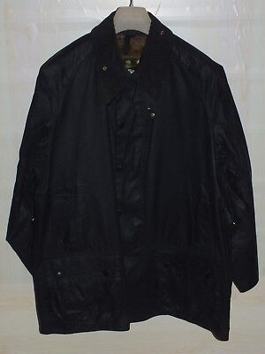 Barbour beaufort jacket  waxed cotton blue + inner pile +  pin   c44-112  xl