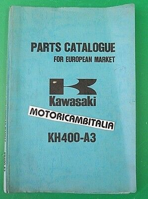 Kawasaki Kh400 Kh 400 Catalogo Ricambi List Spare Parts Catalog Manual Catalogue