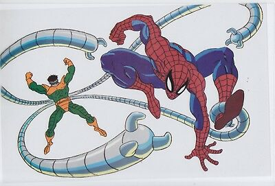 Spiderman 90's Cartoon Animation Sericel & Promo Booklet Doctor Octopus