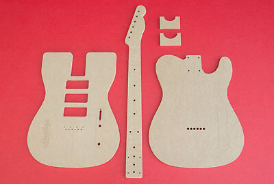 Telecaster (3) P-90 Pickups with Neck and Back Profiles Guitar Router Templates