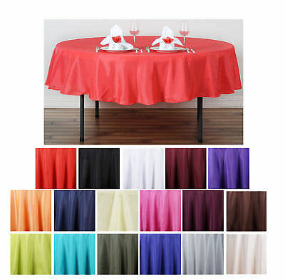 """90"""" Round Polyester Tablecloth For Wedding Party Banquet Events Decoration"""