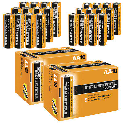 20 X Duracell Aa Industrial Battery Mn1500 Alkaline Replaces Procell Expiry 2024