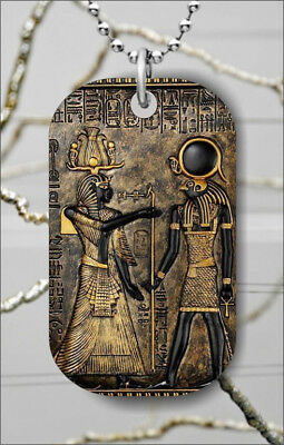 ANCIENT EGYPTIAN GODS DOG TAG NECKLACE PENDANT FREE CHAIN -hnu6Z
