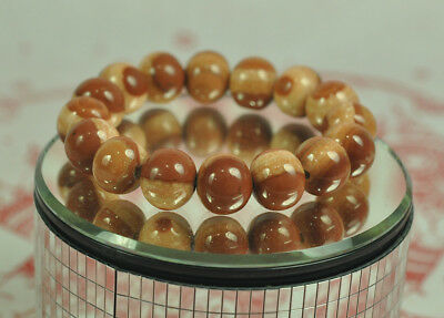Natural Bracelet Cave Relics Stone Mineral Round Beads Buddha Thai Amulet Bangle