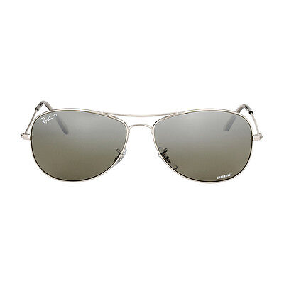 a7ace9038f8 RAY-BAN CHROMANCE METAL Frame Silver Lens Sunglasses RB3562 ...
