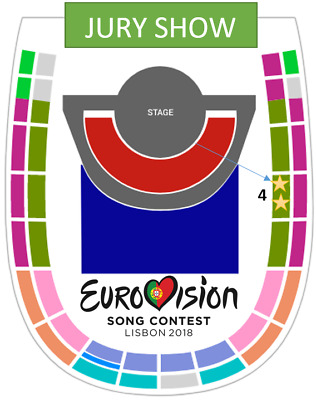 Eurovision 2018 - 2 TICKETS TOGETHER - Grand Final JURY Show 11 May Entradas