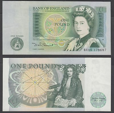 Great Britain 1 Pound 1981-84 (AU) CRISP Banknote KM #377b QEII