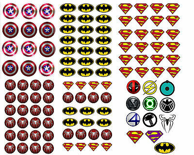 superman spiderman Batman superhero logo bat pink matt finish sticker party bag