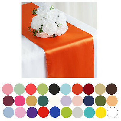 """5PCS of 12"""" x 108"""" SATIN Runner For Table Top Wedding Catering Party Decorations"""