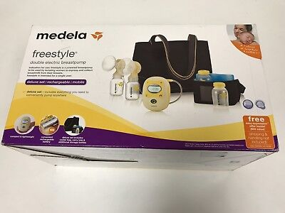 Medela Freestyle Double Electric Breast Pump Deluxe Set 67060 NIB!