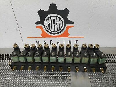 FABCO 113MF1 (12) Solenoid Valves 24V 60W 150PSI & 113-M Manifolds Warranty