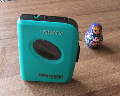 Serviced Working Sony Walkman WM-EX110 Cassette Player unusual TURQUOISE colour