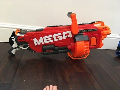 Nerf  MEGA Machine Gun Masterdon Good Cond