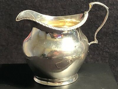 Antique Edwardian Sterling Silver Cream Jug ,1907,-54.18g